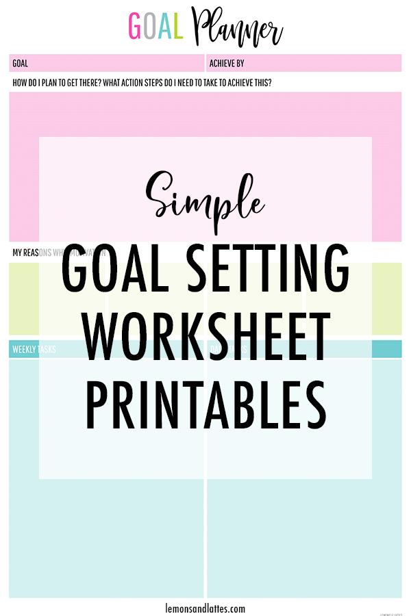 Free goal setting worksheet printable/goal planning worksheet #freeprintable #planner #goalsetting #goals