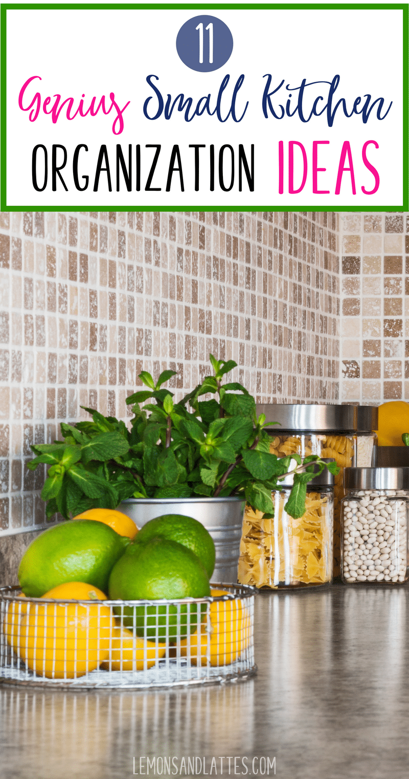 Whether you live in a tiny apartment or you're just looking for some clever storage hacks, you will love these small kitchen organization ideas. #organizing #organization #smallkitchen