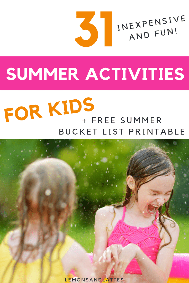 Free summer bucket list printable for kids plus inexpensive summer activities for kids
