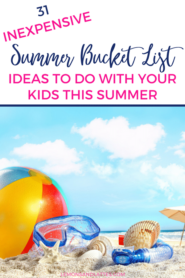31 Inexpensive Summer bucket list ideas that even the most tablet-obsessed kid will enjoy! Plus a free blank Summer bucket list printable. #summer #kids