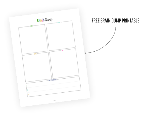 photo regarding Brain Dump Printable called Absolutely free Intellect Dump Template/Worksheet + How toward Crystal clear Your Intellect