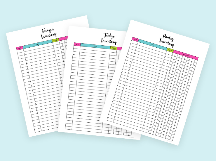Printable Kitchen Inventory Sheets For Ultimate Organization