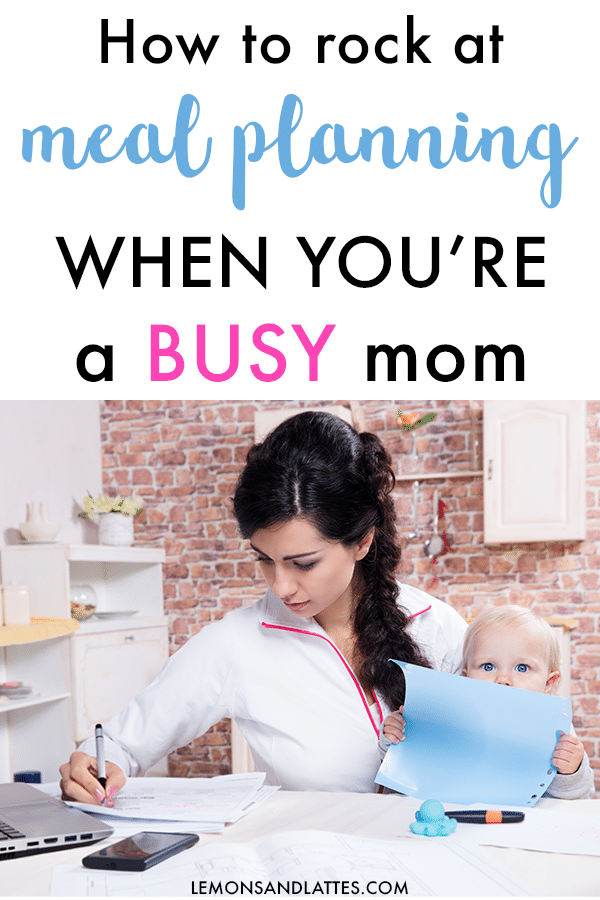 meal planning tips for busy moms