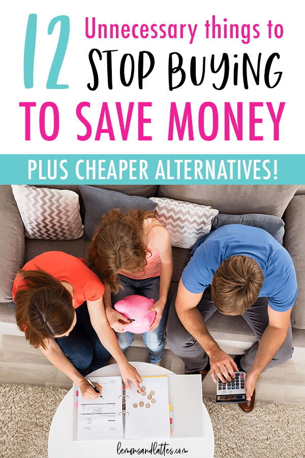 12 things to stop buying to save money #frugalliving