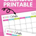 monthly workout calendar printable
