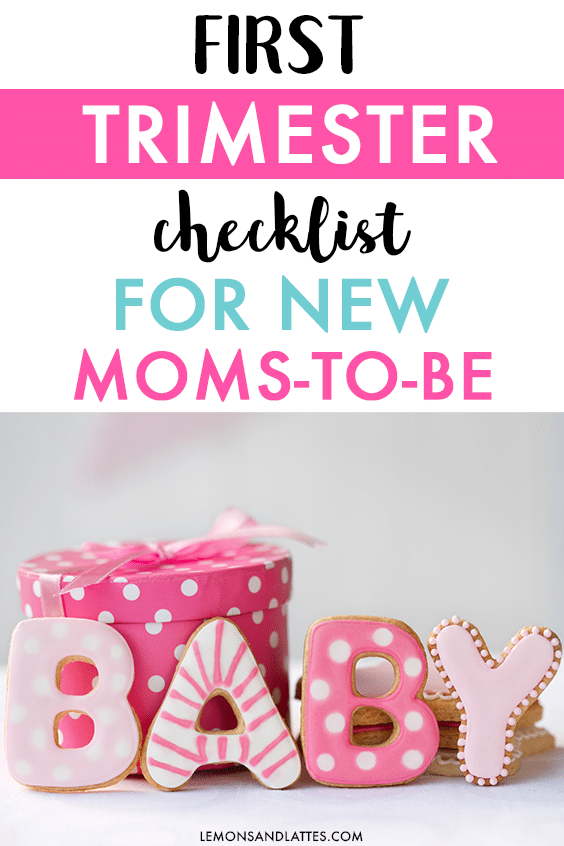 first trimester checklist