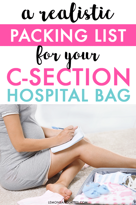 realistic c-section hospital bag checklist