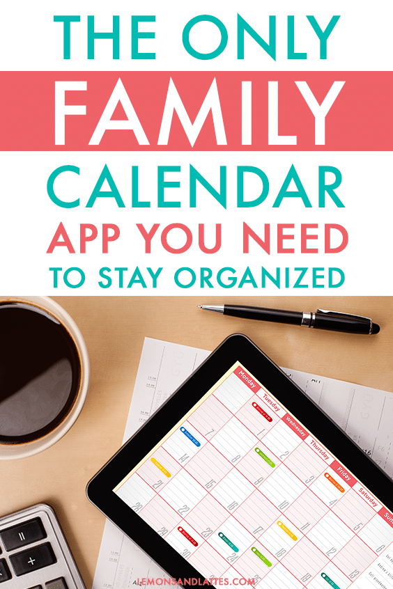 Cozi Family Calendar app, shared family calendar