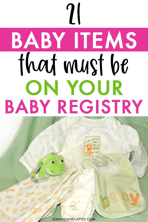 Baby registry must-haves for new moms
