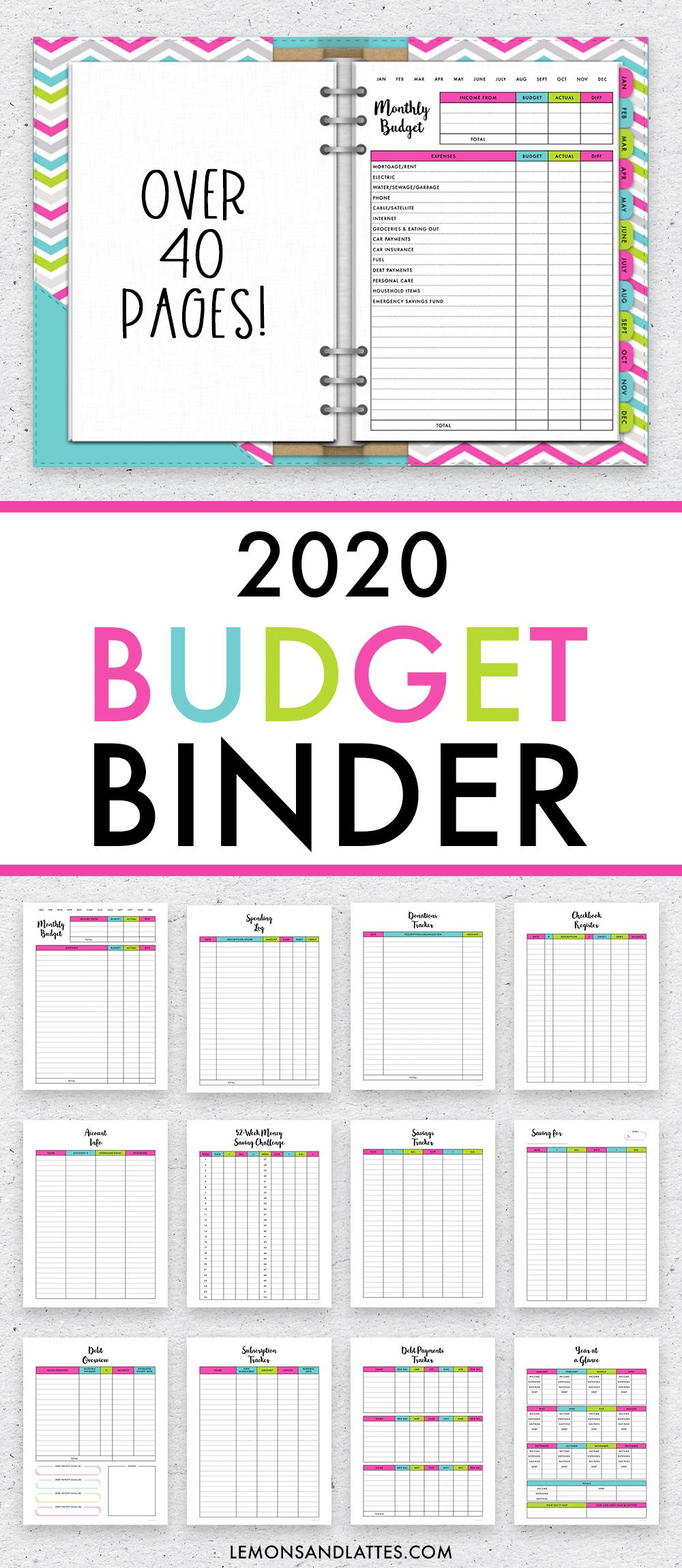 2020 budget binder printables