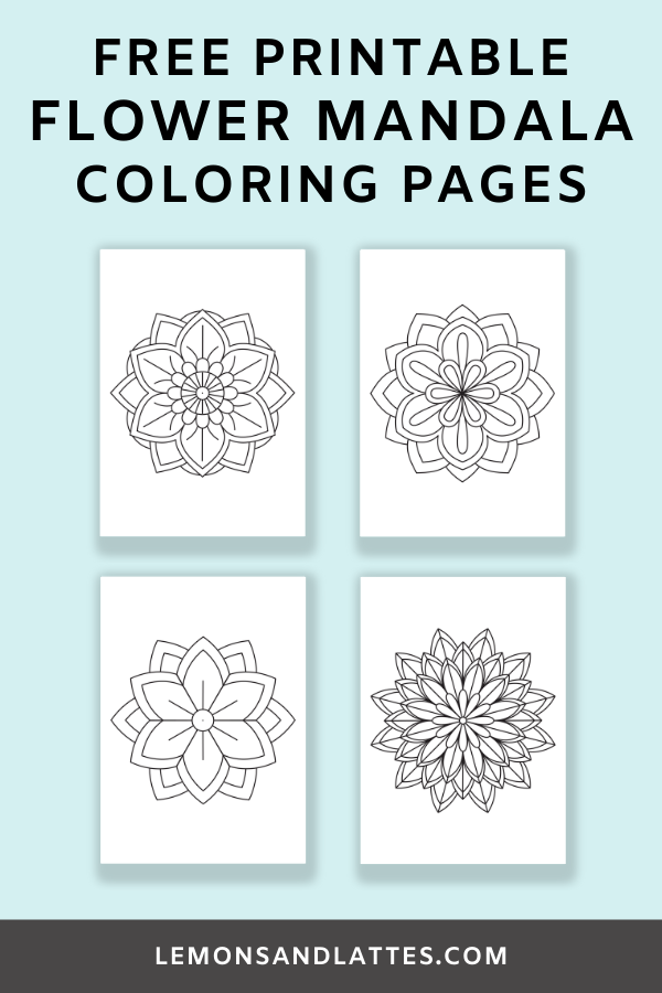 Free printable flower mandala coloring pages (easy patterns)