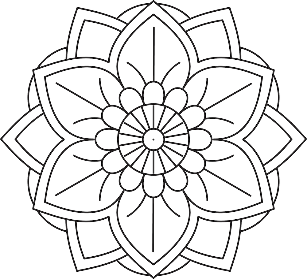 Flower Mandala Coloring Pages - Coloring Home | 912x1000