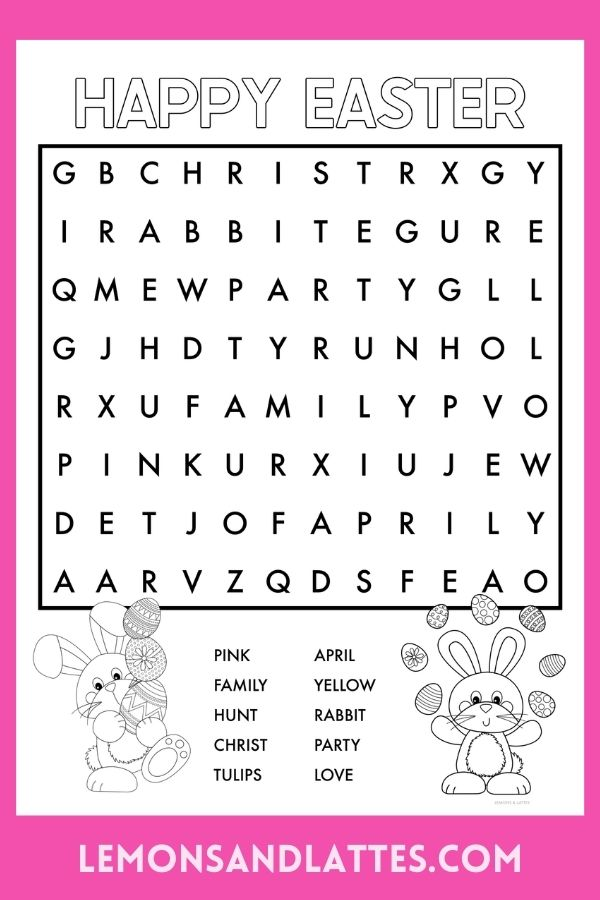 easter word search printables