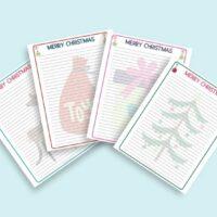 printable christmas writing paper